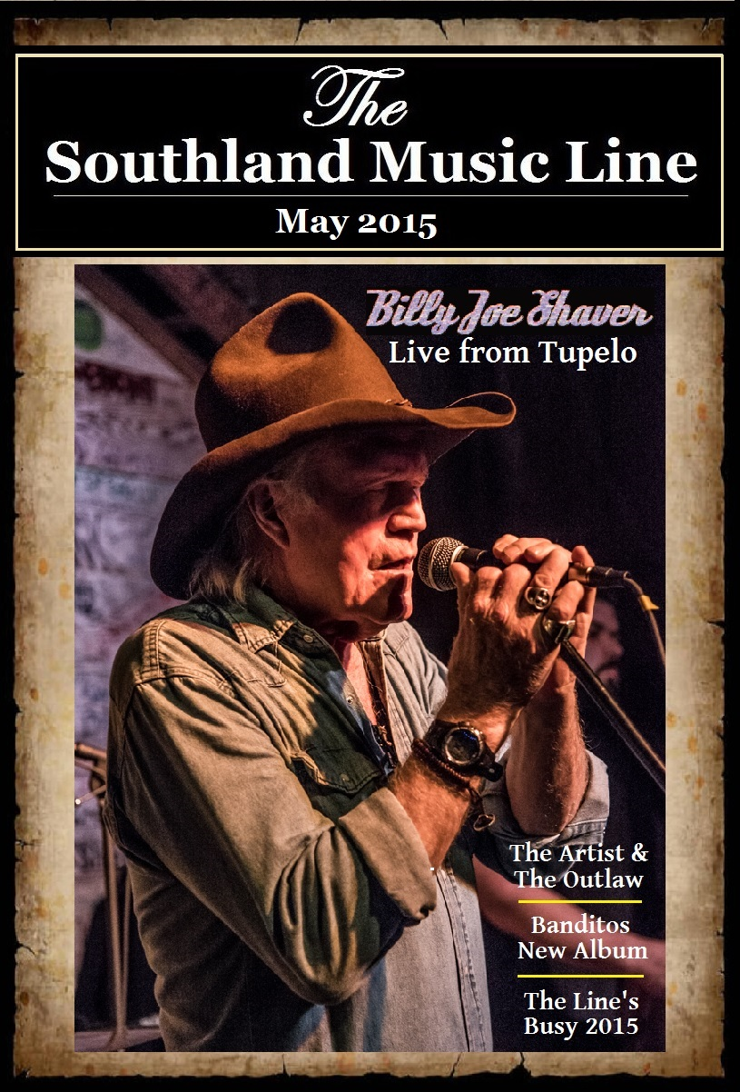 The Line's May 2015 cover with Billy Joe Shaver