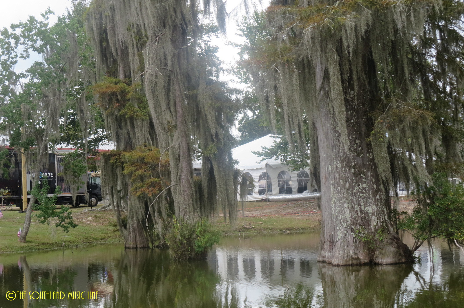 Cassidy Park behind stage at Bogalusa Blues Festival