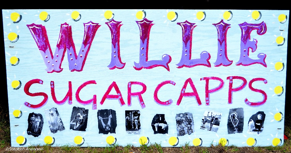 Wille Sugarcapps sign at Wash Hole Jam