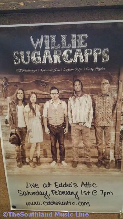 Willie Sugarcapps Poster at Eddie's Attic