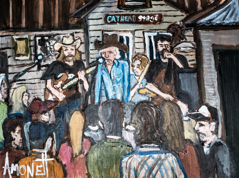 The Billy Joe Shaver painting by Robby Amonett