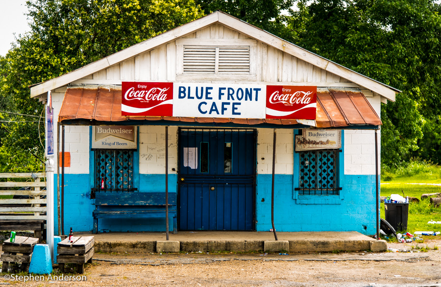 The legendary Blue Front Cafe in Bentonia, MS